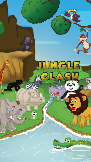 Jungle Clash - 2048 animal matching puzzle game