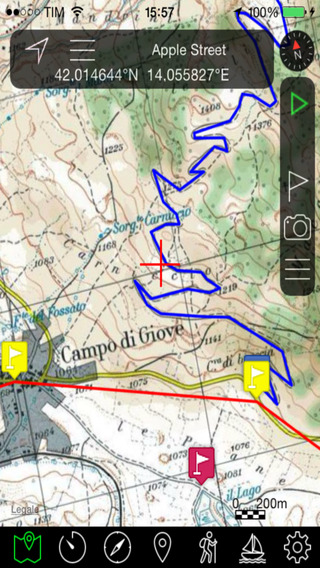 OkMap Mobile an offroad GPS navigator with online and offline custom maps for your outdoor activitie