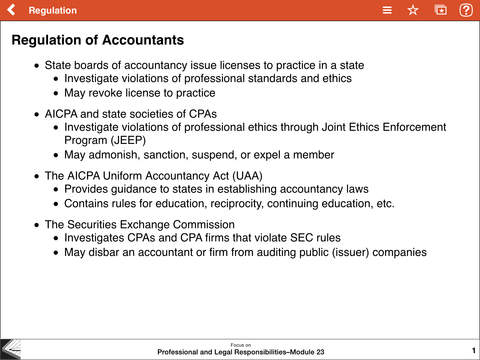 REG Notes - Wiley CPA Exam Review Focus Notes On-the-Go: Regulation iPad Screenshot 2