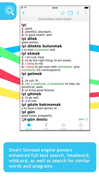 Turkish <-> English Slovoed Deluxe talking dictionary iPhone Screenshot 1