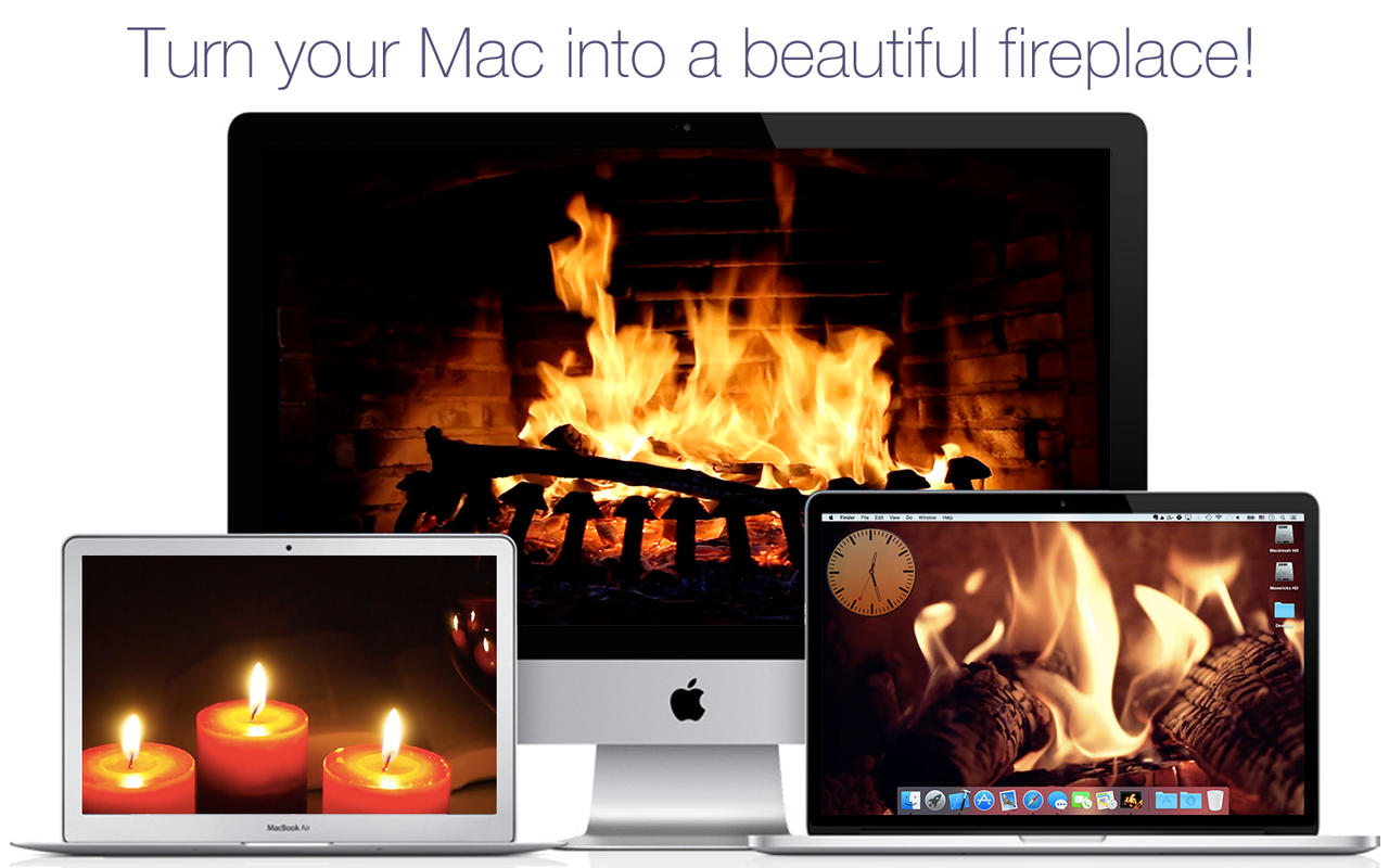 App Shopper: Fireplace Screensaver U0026 Wallpaper HD With Relaxing Crackling  Fire Sounds (free Version) (Entertainment)