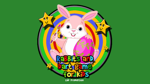Rabbits and darts for children - no ads