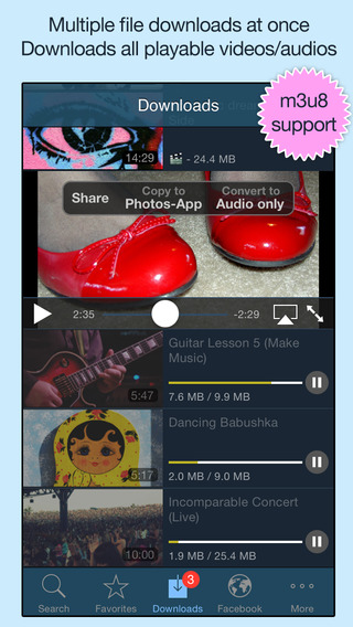 VideoGet for Facebook - Video Player Downloader Download Manager