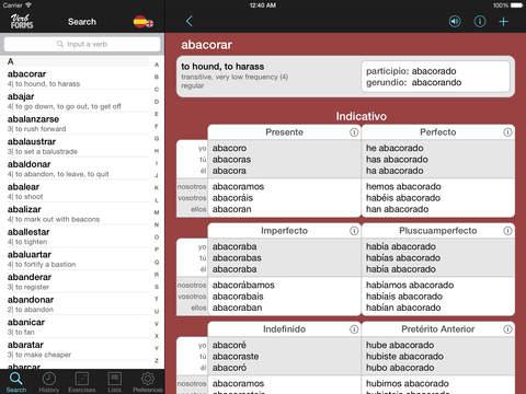 VerbForms Español iPad Screenshot 1