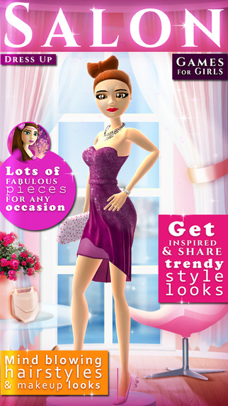 Dress Up Salon Game For Girls: Fashion and Beauty Makeover Studio for Top Models