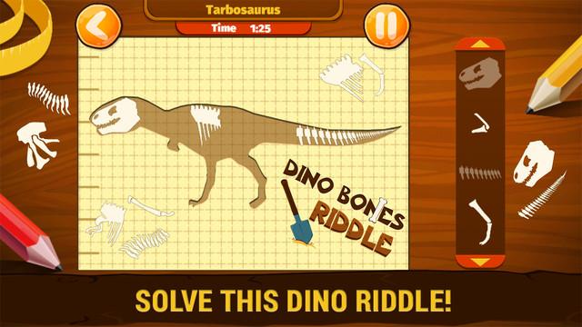 【免費教育App】Dino Bones Riddle - Ancient Puzzle-APP點子