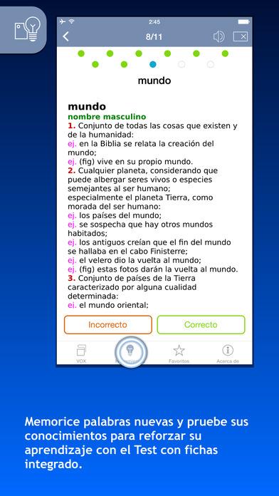 VOX Spanish Explanatory Dictionary iPhone Screenshot 4