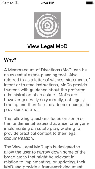 View Legal MoD