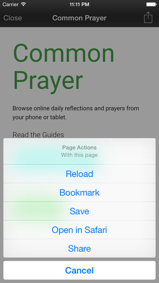 Common Prayer: A browser for Online Prayer and Reflections