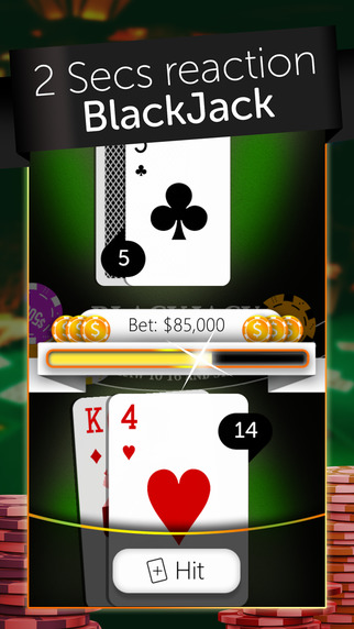 BlackJack 21 PRO - 2 Seconds reaction casino
