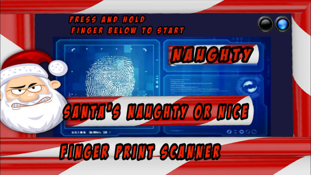 Santa's Good Or Bad Finger Print Scanner™