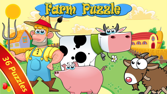 Farm Animal Puzzles Free - Preschool and Kindergarten Learning Games for kids