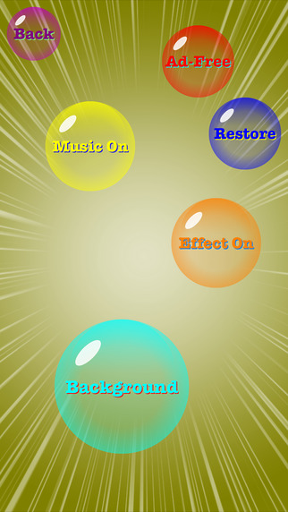 Crazy Bubble Games free for iPhone/iPad screenshot