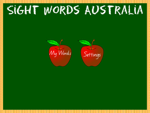 Sight Words Australia Home Version QLD
