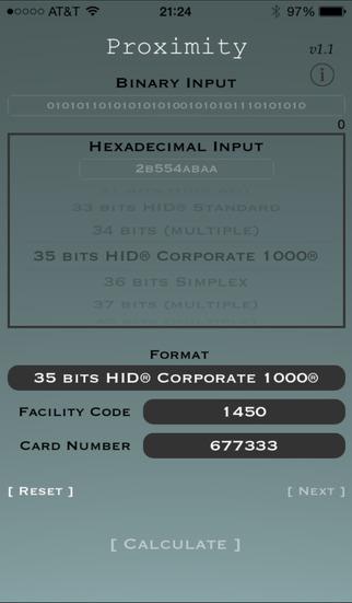 Proximity - Access Card Calculator