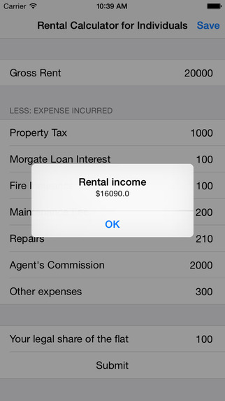 Rental Calculator
