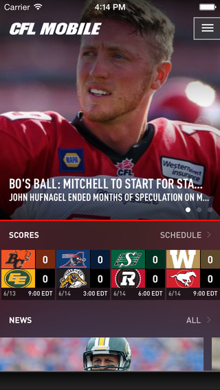 CFL Mobile - The Official App