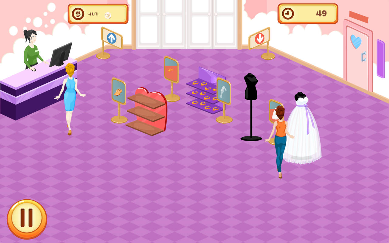 App shopper wedding dress shop crown games for Design your own wedding dress app