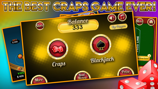 House of Double Blackjack Casino with Craps Party and Fortune Prize Wheel