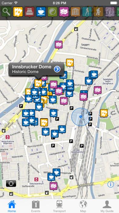 Innsbruck Travel Guide Offline iPhone Screenshot 1