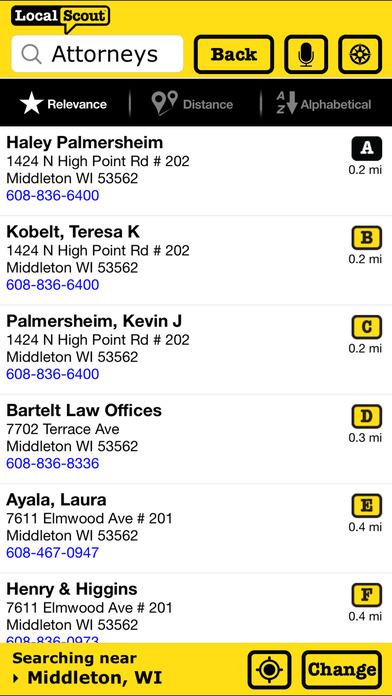 LocalScout iPhone Screenshot 2