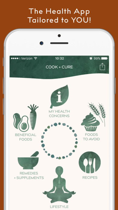 COOK + CURE | Nutrition,Herbs & Natural Health App Screenshots