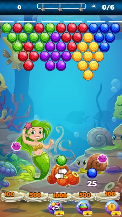 POP Mermaid 3 Bubble Shooter - Popping Bubbles screenshot 2