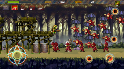 Classic Metal Contra Rambo Soldier Games free for iPhone/iPad screenshot