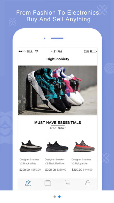 HighSnobiety-Sell Sneakers & Running Shoes Apps free for iPhone/iPad screenshot