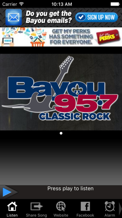 Bayou 95.7 | New Orleans only Classic Rock Station iPhone Screenshot 1
