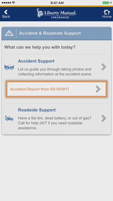 Liberty Mutual Mobile iPhone Screenshot 2