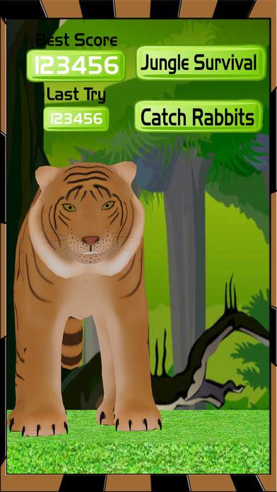 Extreme Tiger Run - Catching Rabbits Simulator app image