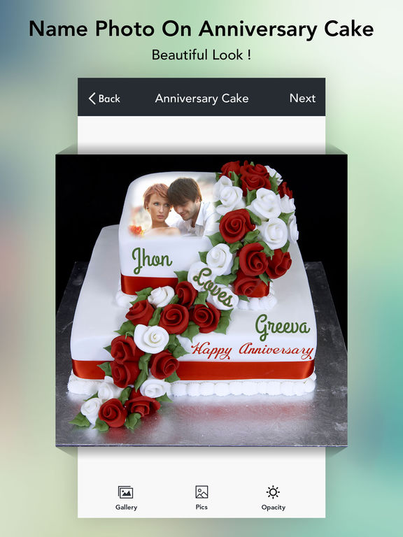 Anniversary Cake Images With Name Editor : App Shopper: Name on Anniversary Cake free (Photography)