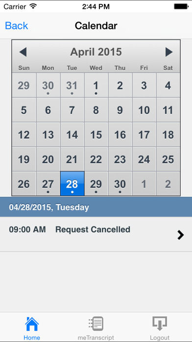 Court Reporters Clearinghouse iPhone Screenshot 2