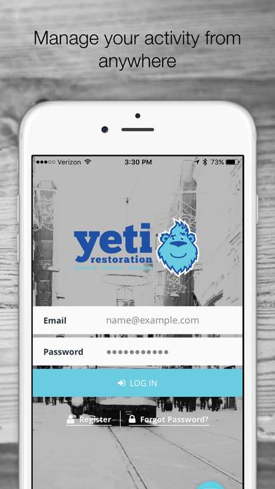 The Yeti Restoration App screenshot 2