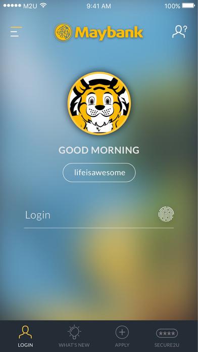Maybank Apps free for iPhone/iPad screenshot