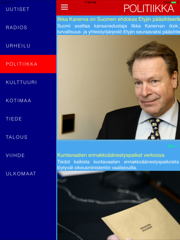 Uutiset Ja Radio - Suomi Screenshots