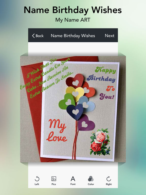 App Shopper: Name Birthday Wishes - Greetings (Photography)