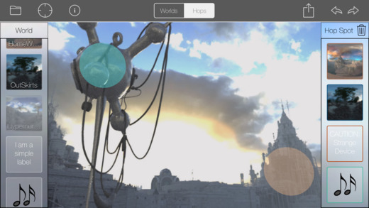 VRHopShop for iOS Makes Authoring VR Experiences from 360 Photos Easy Image