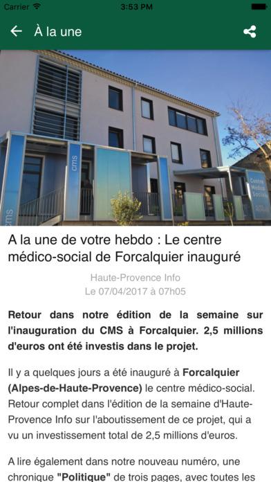 Haute Provence Info iPhone Screenshot 3