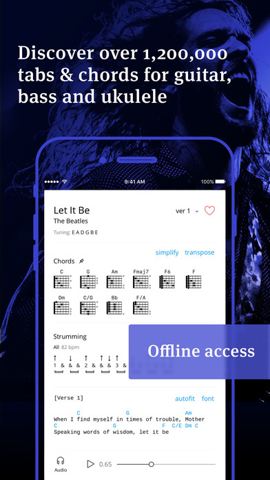 Screenshot for Tabs & Chords by Ultimate Guitar - learn and play in United States App Store