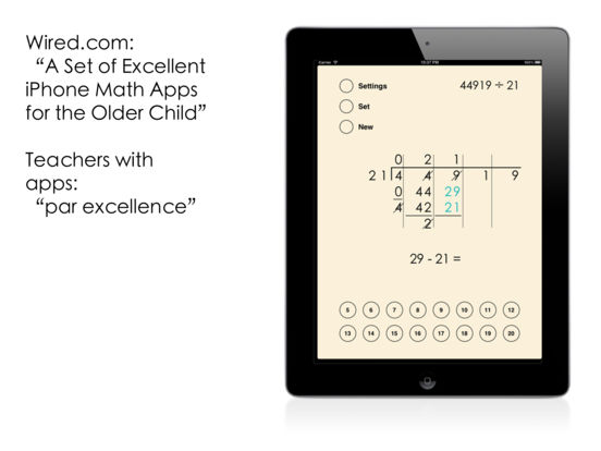 Column Division iPad Screenshot 1