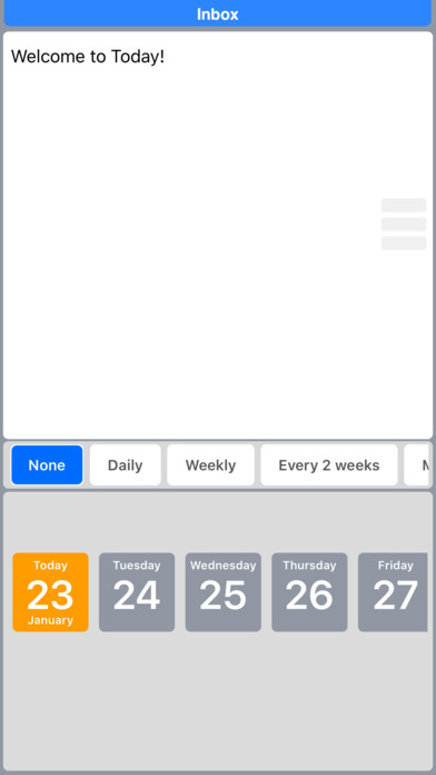 Today Todo: Clever Task Management iPhone Screenshot 4