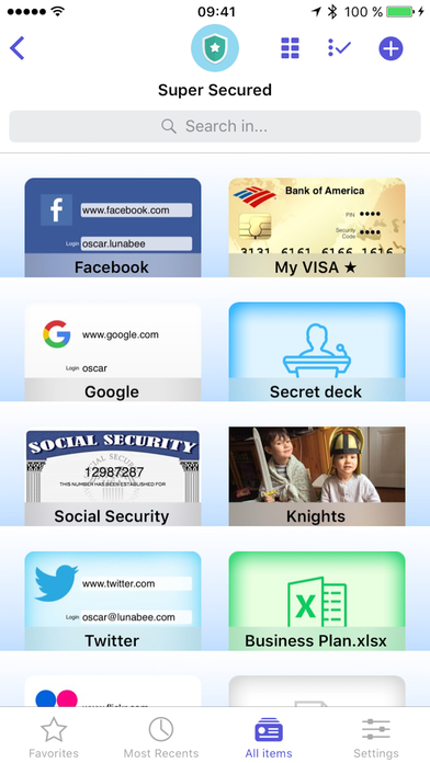 oneSafe 4 password manager screenshot 1