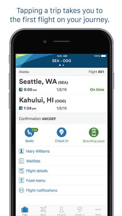 Alaska Airlines/Horizon Air Mobile App iPhone Screenshot 3