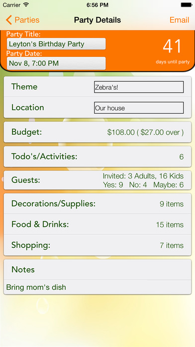 iParty iPhone Screenshot 4