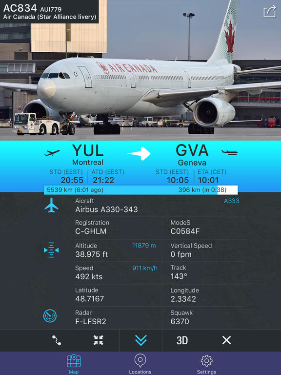 Flight Tracker - Online Status Plane* Screenshots