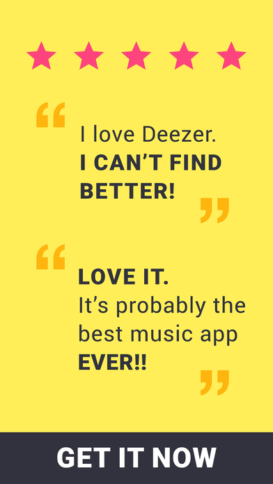 Deezer - Listen to your Favorite Music & Playlists Screenshots