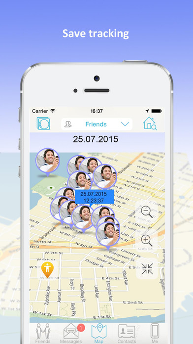 iMap - Find my friends for iPhone locate by number app image