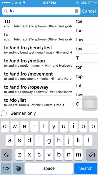 Dict Box - English German dictionary iPhone Screenshot 5